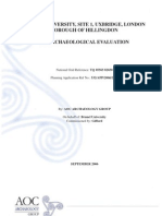 Brunel Polytechnic Site, Archaeological Evaluation Report