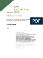 Bergson - Introduccion a La Metafisica [Doc]