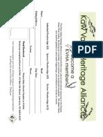 KVHA Org. Manual (Draft)