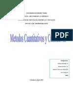 Trabajo de Metodos Cualitativos y Cuantitativos