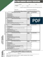 Formulario Examen Medico Preventivo