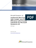 Process Industries for Microsoft Dynamics AX White Paper