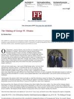 09.01.00 - The Making of George W. Obama (FP)