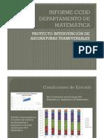 Informe CCDD matemática