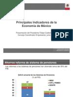 Principales Indicadores de La Economia de Mexico