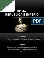 REPÚBLICA E IMPERIO