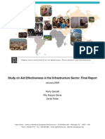 Study on Aid Effectiveness in the Infrastructure Sector