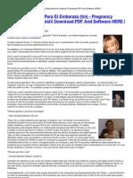 Milagro Para El Embarazo Tm Pregnancy Miracletm in Spanish Download PDF and Software HERE HTML