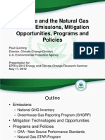 Gunning -- Methane and the Natural Gas Sector - Emissions, Mitigation Opportunities, Programs and Policies