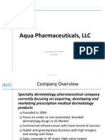 Aqua Pharmaceuticals Nonconfidential June 2011 Slideshare