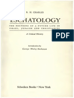 Eschatology, The Doctrine of a Future Life in Israel, Judaism, And Christianity- A Critical History 1963 Charles, R. H
