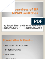 An Overview of RF MEMS Switches