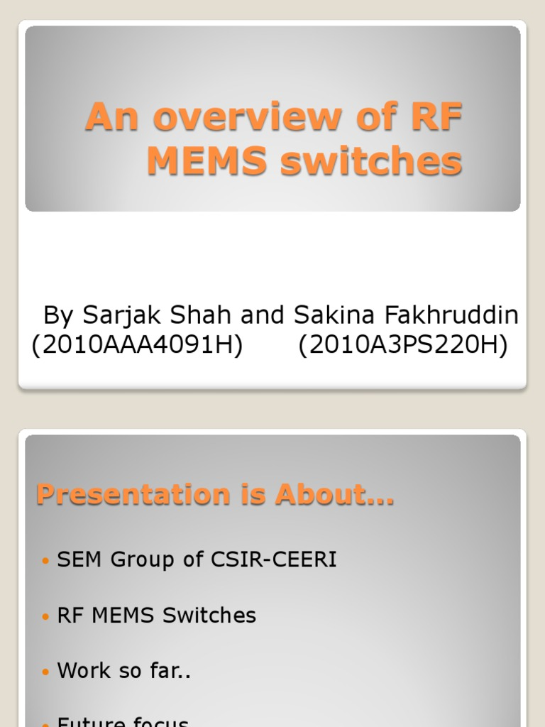 Rf mems switch phd thesis