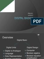 Lecture 2 - Digital Basics