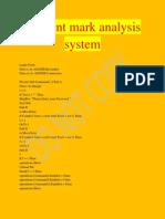 Student Mark Analysis System