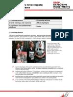 Disinvestment Update 1 Feb 2010