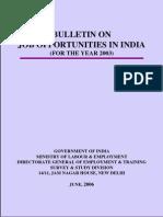 Bulletin on Job 2003