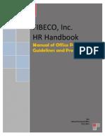 FIBECO Manual of Policies and Procedures