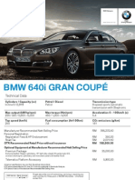 Spec Sheet - The All-New BMW 6 Series Gran Coupé (FINAL)