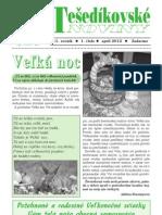 Tešedíkovské noviny - 2012, Apríl