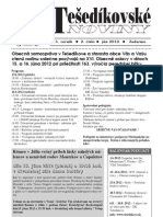 Tešedíkovské noviny - 2012, Jún