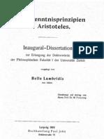 Lambridis Helle_Die Erkenntnisprinzipien bei Aristoteles (Inaugural-Dissertation)_1919