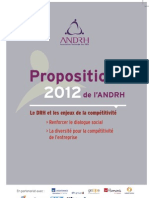 Propositions ANDRH 2012