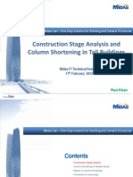 02-Construction Stages and Column Shortening Analysis in Tall Buildings