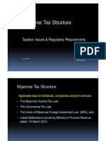 Myanmar Tax Structure