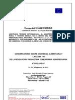 Conversatorio sobre Seguridad Alimentaria y la Ley Nº 144 Revolución Productiva Comunitaria Agropecuaria (Memorias)