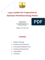 Opportunities for Cooperation in Myanmar Petroleum Energy Sector