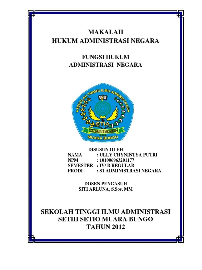 Makalah Administrasi Negara 2