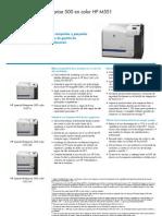 Ficha Tecnica Hp Laserjet 500 HP M551 (gama N, DN y XN)
