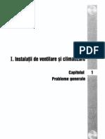 1. Instalatii de Ventilare Si Climatizare - Cap 01 - Problem