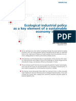 Ecological industrial policy as a key element of a sustainable economy in Europe