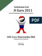 Pembahasan Soal OSN Guru Matematika SMA 2011 Tingkat Provinsi