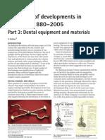 125 Years of Developments in Dentistry