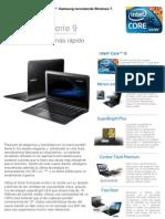 Ficha Técnica Portátil Samsung Serie 9