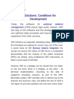 CRM Solutions-Conditions for Development