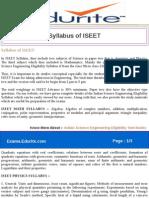 Syllabus of ISEET