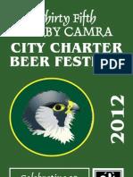 Derby CAMRA Summer Beer Festival 2012 List