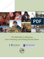 AFWA - The Benefits to Business from Hunting and Fishing Excise Taxes - 2011