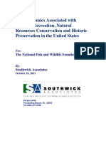 The Economics Associated with Outdoor Recreation, Natural Resources Conservation and Historic Preservation in the United States - 2011