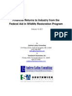 Financial Returns to Industry from the Federal Aid in Wildlife Restoration Program - 2011