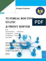 Tutorial Routing Static Dan Proxy Server