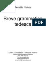 Breve Grammatica Tedesca