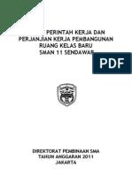 Surat Perjanjian Kerja RKB Bansos APBNP 2011