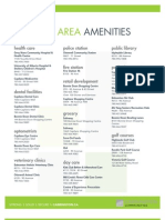 Urban Village Phase III Amenity Sheet