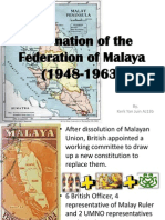 Formation of the Federation of Malaya (1948-1963
