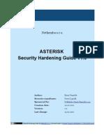 Asterisk Security Hardening 1.0